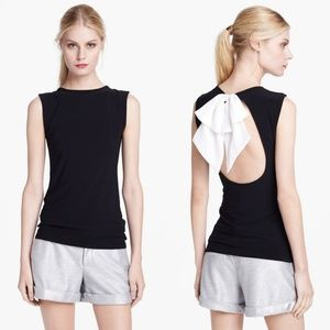 Alice + Olivia Belle Bow Detail Open Back Top.